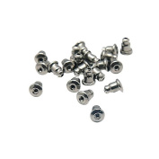 Pandahall 20pcs Earrings Findings Earring Safety Backs Original Colour 304 Surgical Stainless Steel Earnuts
