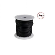 Round Rubber Cord Black 2.5mm 5 metres / 5.4 Yards.