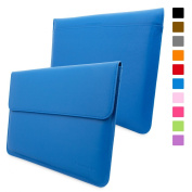 Snugg Macbook 30cm Case - Leather Sleeve Case with Lifetime Guarantee (Electric Blue) for Apple MacBook 12 with Retina