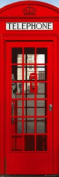 London Telephone Box| 21x63 Door Poster