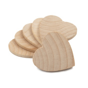 2.5cm - 1.3cm Wood Hearts, Natural Unfinished Wood Heart Cutout Shape, (3.8cm ), Wooden Heart (3.8cm Tall x 0.3cm Thick) - Bag of 100