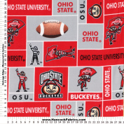 Ohio State Fleece Fabric - Sold By the Yard