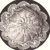 Vintage Crochet PATTERN to make - Antique Mary Fitch Pincushion Doily. NOT a finished item. This is a pattern and/or instructions to make the item only.