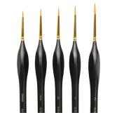 Professional Detail Paint Brush Set - 5 Sizes ,Artists, Modellers, Miniatures