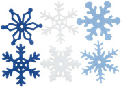 Creative Impressions 3.2cm Felt Snowflakes, Medium, 36 Per Package