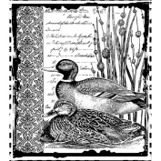 Crafty Individuals Unmounted Rubber Stamp, Mallard Duck Pair