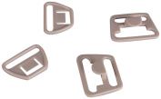 """Tan Plastic Nursing and Maternity Clips - 3/4"""" or 18mm - 10 Sets"""