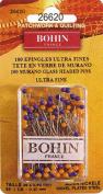 "Bohin Ultra Fine Murano Glass Head Pins 1 3/8"" x .40 mm Pkg of 100"