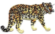 LEOPARD - WILD - JUNGLE ANIMAL/Iron On Embroidered Applique Patch /Zoo Animals