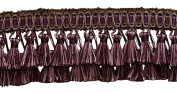 Elaborate Dusty Mauve, Dark Plum 7.6cm Two Tier Tassel Fringe - Lushes Lavenders 2927