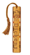 Author - Charles Dickens Engraved Wooden Bookmark with Tassel