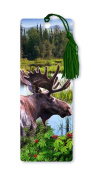 Dimension 9 3D Lenticular Bookmark with Tassel, Moose by the Lake
