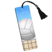 Sporty Volleyball Printed Bookmark with Tassel