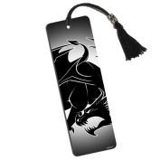 Stylized Tattoo Dragon Printed Bookmark with Tassel