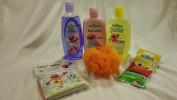 7pc Sesame Street Elmo Bath & Fun Bundle Gift Set with Festive Christmas Stocking, 300ml Baby Body Wash, Baby Lotion, Baby Shampoo, Body Puff, Fizzy Tub Colours & Elmo Bath Time Bubble Book