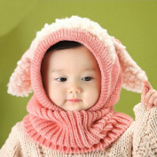 E Support™ Super Keep Warm Baby Kids Girls Boys Winter Warm Knitted Hat Kids Children Dual Ball Knitted Sweater Scarf Caps Hats