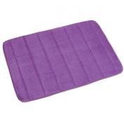 Ancdream 43cm x 60cm Non-Slip Back Rug Soft Bathroom Carpet Memory Foam Bath Mat Floor Carpet Purple