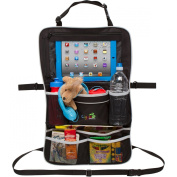 Rugged Universal Baby Stroller Organiser / Backseat Car Organiser with Adjustable Straps | Includes iPad Holder & Drink Holders | For Nappies, Bottles, Toys & More!