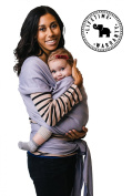 Baby Wrap Sling Carrier - Grey - Quality (95% Cotton / 5% Spandex) - For Mothers with Newborn to 16kg Babies - By Belephant Baby