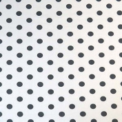 SheetWorld Fitted Pack N Play Sheet - Polka Dots Grey - Made In USA