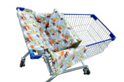 Shopping Cart Cover for Baby 3 in 1 Unisex Baby Blanket, Restaurant High Chair, Easy to Instal