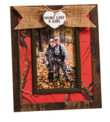 Cypress Home Hunt Like a Girl 4x6 Wooden Picture Frame