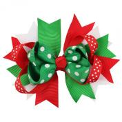 Susenstone®Christmas Baby Girl Ornaments Bowknot Hairpin Headdress