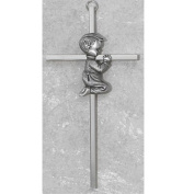 Made in America! 15cm Silver Boys Wall Cross Great for First Communion, Baby Shower, Christening or Baptism.