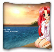 Custom Characteristic ( Anime Maburaho ) Custom Zippered Pillow Case 41cm x 41cm (one sides) from Surprise you suitable for Twin-bed PC-Green-13246