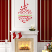 Vakind Merry Christmas Ball Wall Stickers Decal Removable Art Vinyl Home Kid