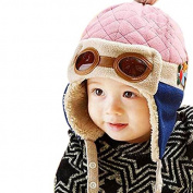 Cute Winter Toddler Baby Velvet Wool Hat Hooded Scarf Earflap Knit Cap
