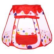 Truedays® Kids Outdoor /Indoor Play Tent House Children Play Balls Pit Pool Hut Safe Visibility, 120cm X 110cm X 90cm