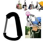 HOT Shopping Stroller Hook Baby Stroller Hook Door Hook Black Colour