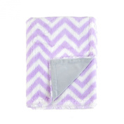 Tadpoles Chevron Print Double Layer Blanket, Lilac