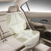 Luxury Seat Protector Mat to Use Under Your Child's Car Seat. Light Beige Colour to Blend with Leather in Prestige Family Vehicles