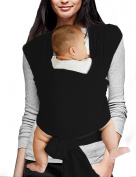 Vlokup Baby Sling Carrier Soft Infant Wrap Ideal Shower Gift Black