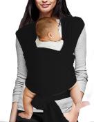 Vlokup Baby Sling Carrier Soft Infant Wrap Ideal Shower Gift Black
