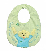 Kelly B. Rightsell Designs Soft Cloth Baby Bib, Skipper Boy, 28cm X 33cm