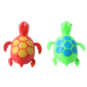 2 Pcs Wind up Clockwork Swimming Turtle Pool Shower Floating Toy