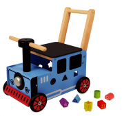 "Walk and Ride Push Waggon ""Train"" Solid rubberwood"