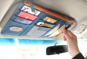 Car Visor Organiser Holder Case Sun Shade CD Card Holder Card Storage Pouch Bag Wallet Pockets Auto Car Organiser