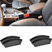 Possbay 4Pcs Car Storage Organiser Box Caddy Seat Slit Pocket Matte Black Catcher Stuff Holder