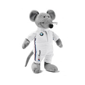 BMW Genuine Motorsport Racing Plush Mouse Soft Toy with Removable Overall