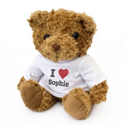 NEW - I LOVE SOPHIE - Teddy Bear - Cute And Cuddly - Gift Present Birthday Xmas Valentine