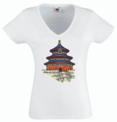 Pinkelephant - T-Shirt V-Neck woman - chinese monuments 12