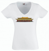 Pinkelephant - T-Shirt V-Neck woman - chinese monuments 7