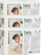 Pack Of 3 Naty Newborn Nappies (Size 1) 78 Nappies