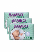 Pack Of 3 Bambo Newborn Nappies (Size 1) 84 Nappies