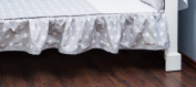 Vizaro - Valance Sheet for COT BED- 100% Premium Quality Luxury Cotton - Polka Dots Collection - White & Grey Colours - Tested against harmful substances - Made in EU