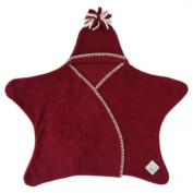 Tuppence and Crumble Star Baby Wrap Raspberry Size Large